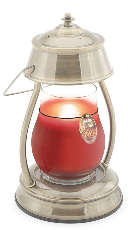brushed nickel hurricane candle warmer lantern