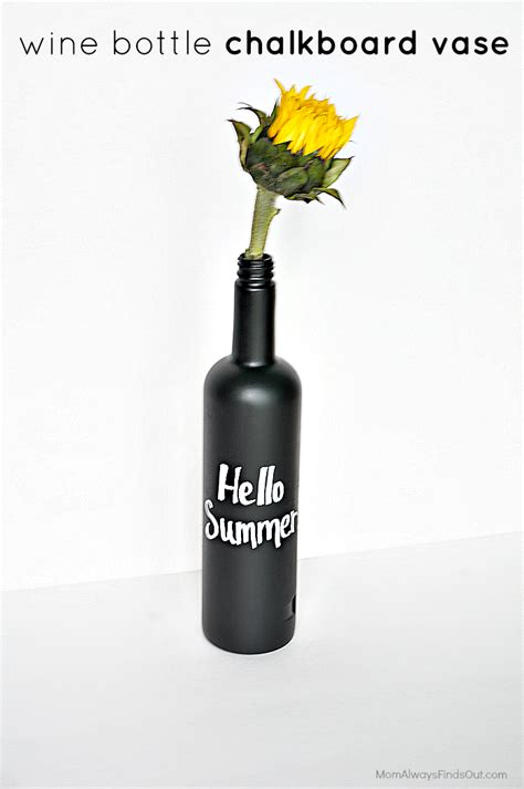 wine bottle crafts diy chalkboard vase