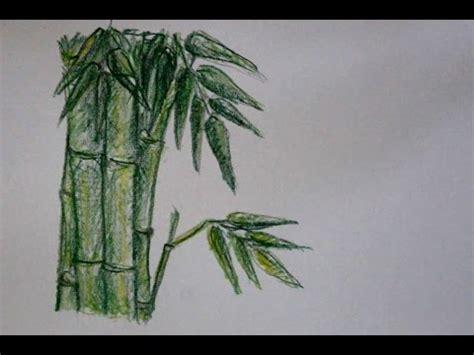 tutorial menggambar pohon dengan pensil cara menggambar pohon bambu dengan pensil warna yang mudah