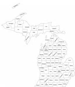 michigan county map with county names free