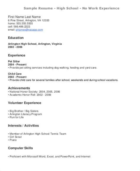 resume templates for teenagers 15 resume templates pdf doc free premium