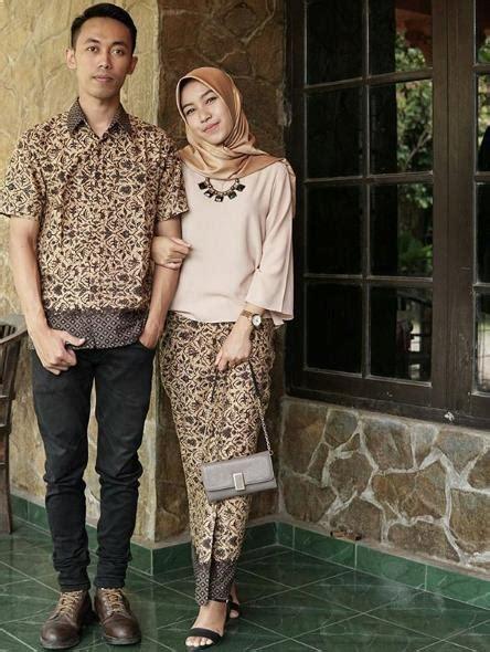 Batik Dresscouplemodis 37 model batik modis 2018 model baju muslimah batik terbaru 2018