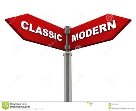 or vs classic versus modern stock photography image 33105762