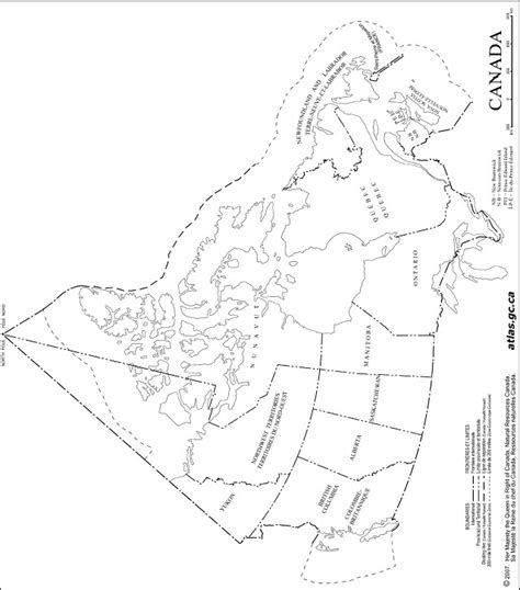 outline of map of canada canada outline map