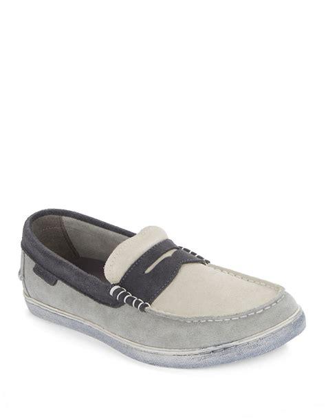suede cole haan loafers lyst cole haan pinch weeekender colorblocked suede