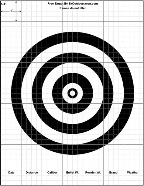 printable large rifle targets free targets printable shooting rifle pistol shotgun