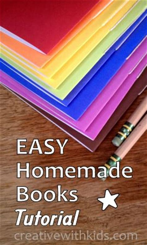 Easy Handmade Books - how to make books with easy tutorial