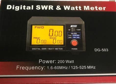 Nissei Digital Swr Power Meter Rs 50 Made In Taiwan nissei dg 503