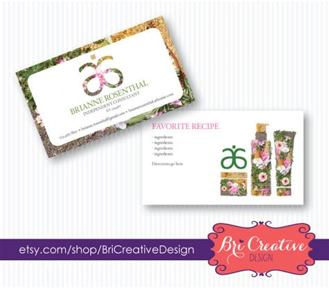 arbonne business card arbonne business card design with recipe