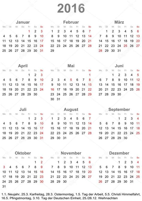 What Does Calendrier In Simple Calendar 2016 With Holidays For Germany