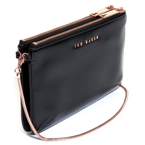 Crossbody Bag ted baker black prima canvas zip crossbody bag lyst