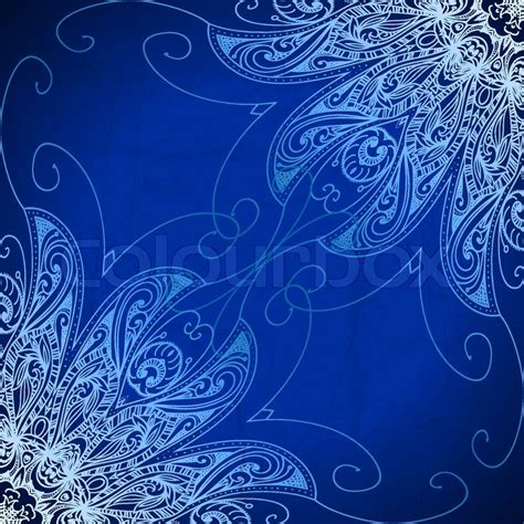 Wedding Border Design Royal Blue by Vintage Vector Circle Floral Ornamental Border Lace