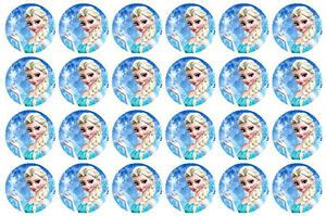 disney frozen elsa edible wafer cupcake cup cake decoration toppers images ebay