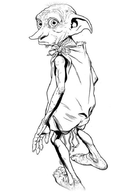 harry potter dobby coloring pages harry potter ausmalbild coloring pages