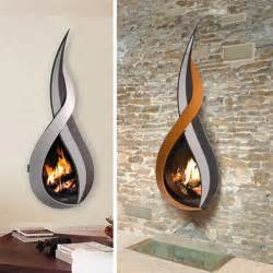 Modern fireplace design ideas with tv above together with unique wall