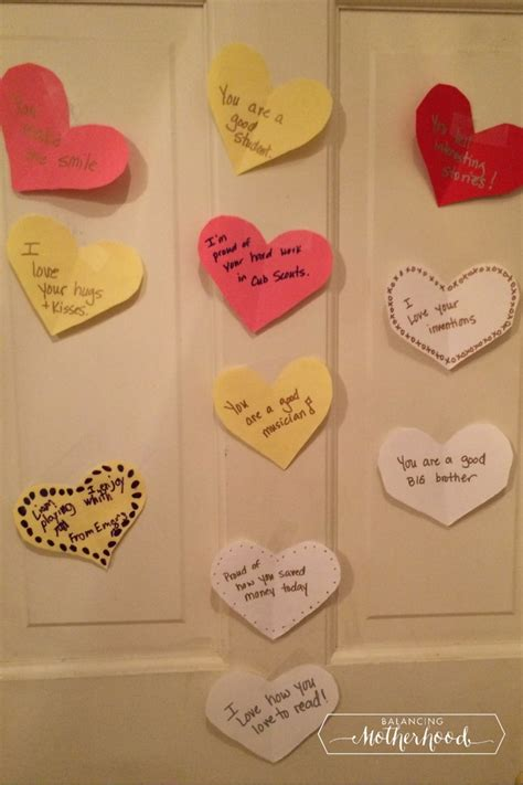 bedroom messages valentine s day messages for kid s lunch boxes and bedroom doors balancing motherhood