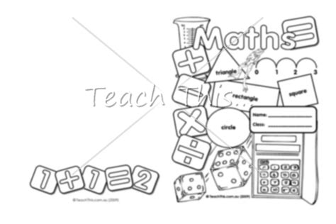 free coloring pages of maths cover page