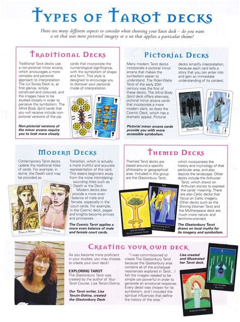 Types Of Tarot Decks Many Magicks My Magickal
