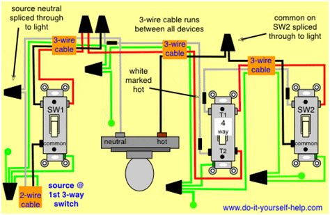 4 way light switch wiring 4 way switch wiring diagrams do it yourself help com