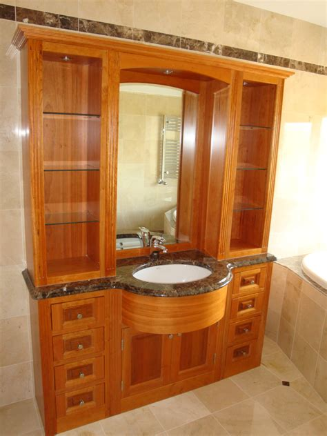 cherrywood bathroom display cabinet handcraft interiors