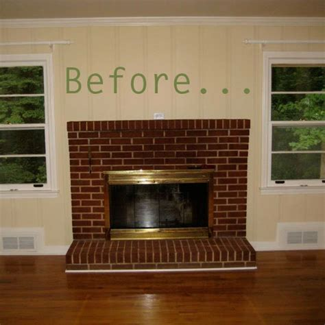 before after molly s family room fireplace makeover