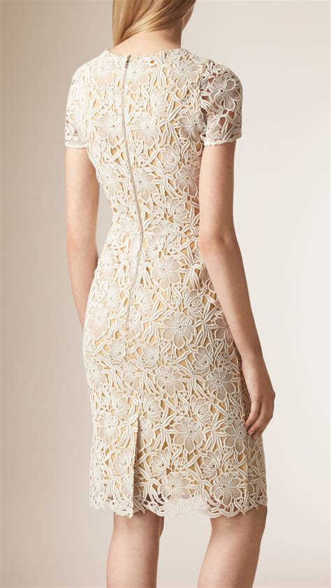 Burberry Macramé Lace Dress in White   Lyst
