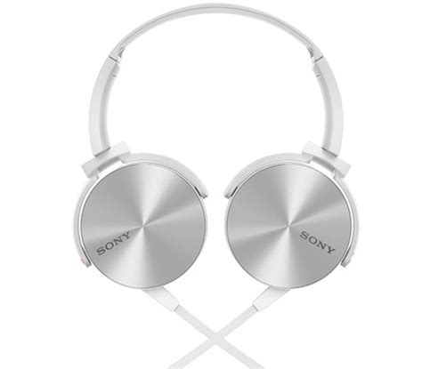 Heahphpne Sony Bass Mdr 450 sony mdr xb 450 white ear headphones with bass