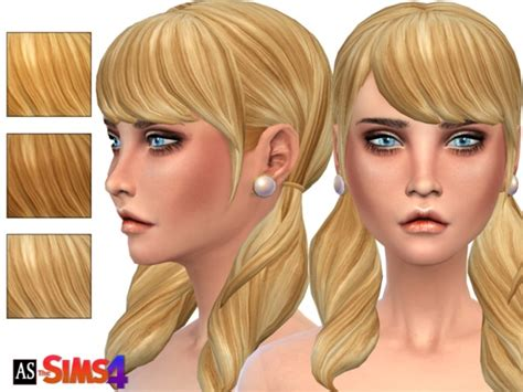 sims 4 long wavy hair without bangs alexandra sine s blonde ambition pigtails long wavy
