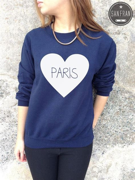 fashionable ultra stylish hipster heart paris cute jumper sweater top love heart tumblr hipster