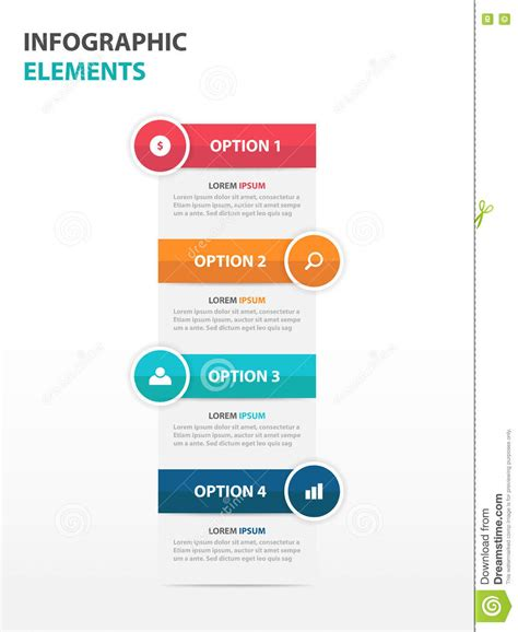 design elements of text media abstract text box business infographics elements