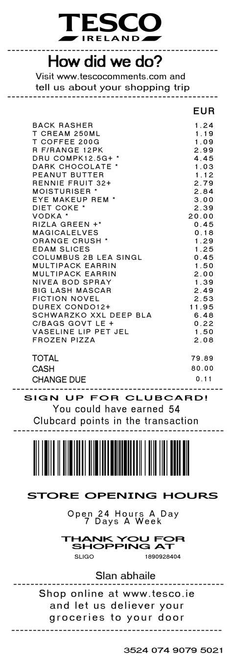 shopping receipt template my identity through a tesco shopping list by freatoxim on