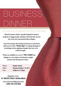 business dinner invitation sle cimvitation