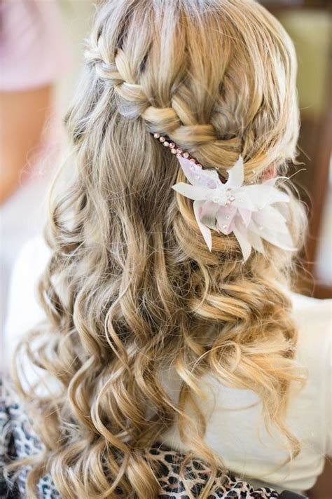 Wedding Hair Braid by Waterfall Braid Wedding Hair