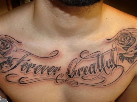 chest lettering tattoo designs 45 cool chest tattoos for inspirationseek