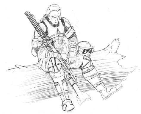 scout trooper coloring pages clone at rest by kuk on deviantart