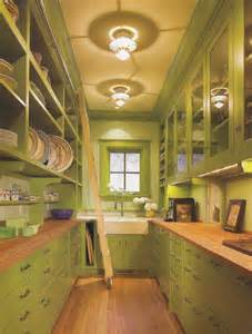 Apply green pantry love the ladder the glass cabinets and the open