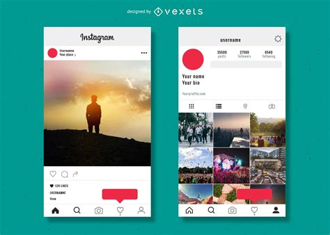Instagram Profile Template Vector Download Instagram Profile Picture Template