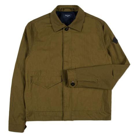 Khaki Jacket paul smith s khaki cotton twill trucker jacket in