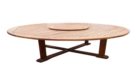 large round patio table with lazy susan crunchymustard