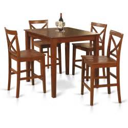 what height bar stool for 36 counter 5pc counter height pub set 36x36 table 4 bar stool wood chairs in cherry brown ebay
