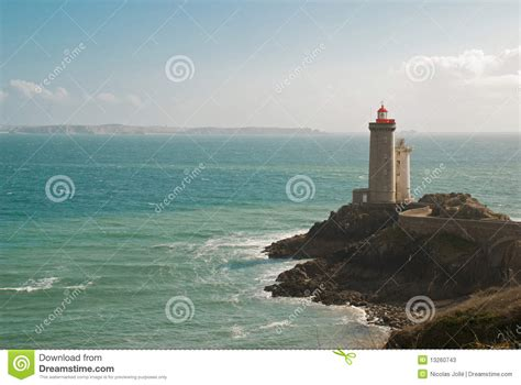 lighthouse front  ocean stock  image