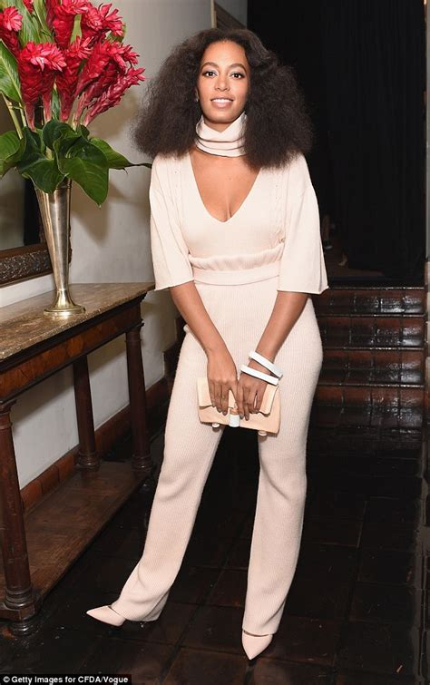 Wst 10749 Belted Shirt Jumpsuit solange knowles attends and kanye west s
