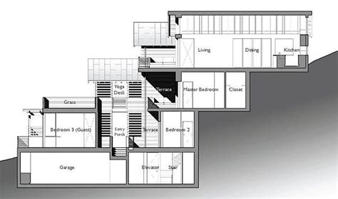 steep hillside house plans the architect 187 split level house built on steep slope