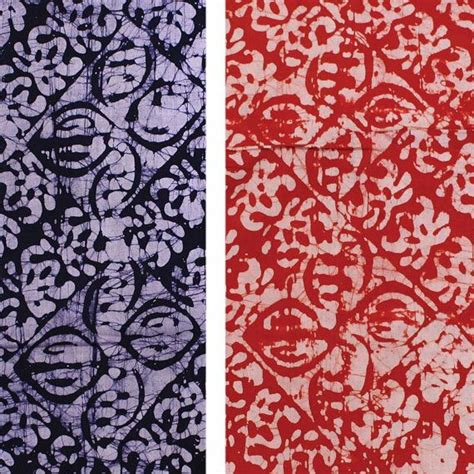 Batik Blue Tribal or navy blue batik fabric by the yard tribal
