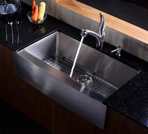 stainless steel farmhouse kitchen sink kraus 36 inch farmhouse apron single bowl stainless steel