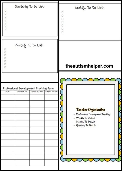 must have forms and templates for a special education