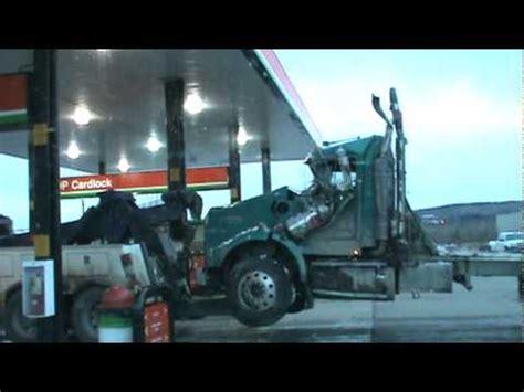 prince george monster truck tridrive kenworth logging truck cab destroyed prince