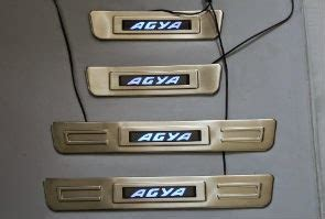2014 agya led door sill scuff plate