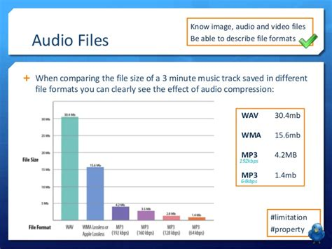 audio format file size comparison lo3 lesson 8 file formats