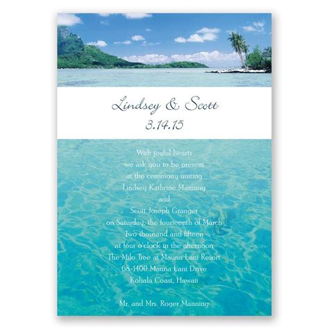 Oceam Theme Wedding Invitations by Sea Of Invitation Invitations By
